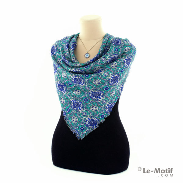 Платок Le Motif Couture из шёлка и хлопка на шее, арт. SM164-1