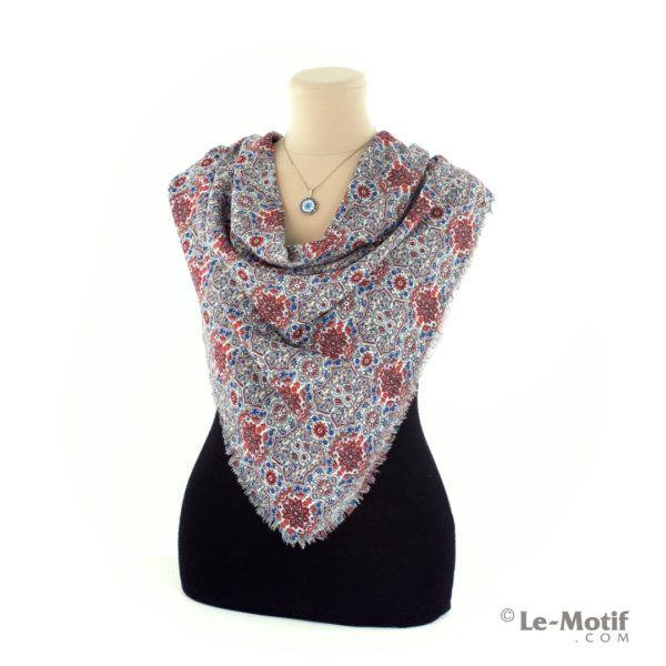 Платок Le Motif из шёлка и хлопка на шее, арт. SM164-2