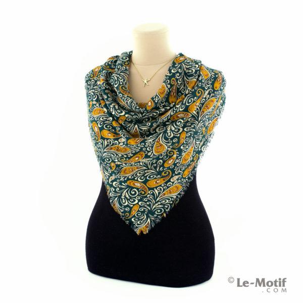 Платок Le Motif из шёлка и хлопка на шее, арт. SM166-1