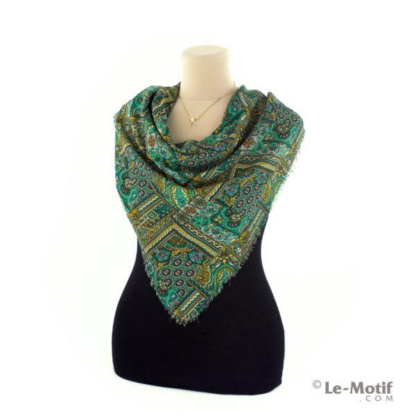 Платок Le Motif из шелка и хлопка на шее, арт. SM184-3