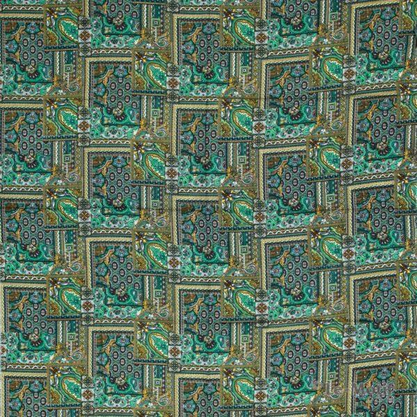 Платок Le Motif из шёлка и хлопка. Изображение узоров SM184-3