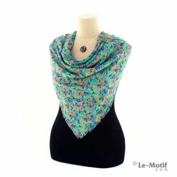 Платок Le Motif Couture из шёлка и хлопка на шее, арт. SM188-1