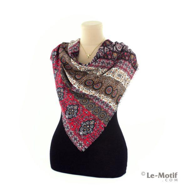 Платок Le Motif из шелка и хлопка на шее, арт. SM189-1