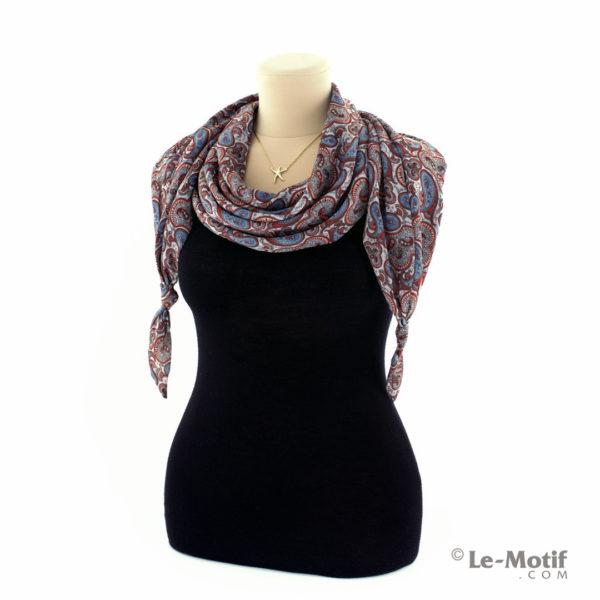 Шарф-долька Le Motif из шёлка с вискозой на шее, арт. XK01-18