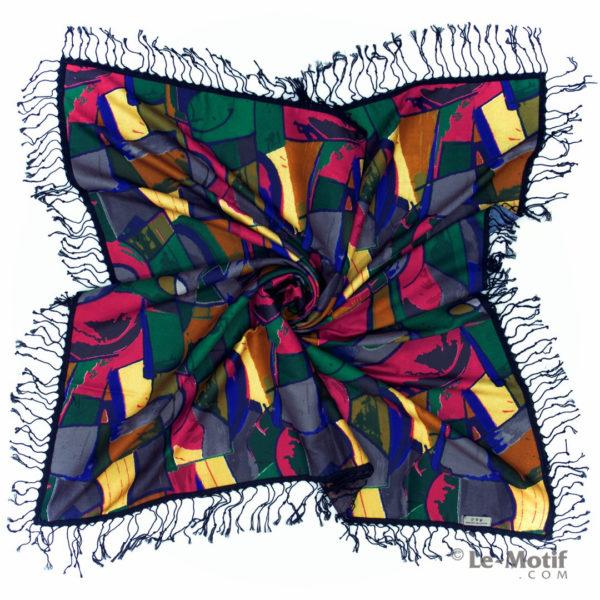 Платок Le Motif из шерсти и хлопка. Фото для каталога 2, LSFYS32-1