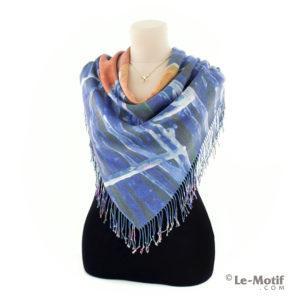 Платок Le Motif из шерсти и хлопка на шее, арт. 15GF12