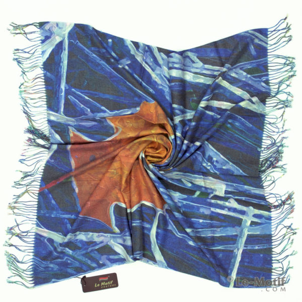 Платок Le Motif из шерсти и хлопка. Фото для каталога 1, 15GF12