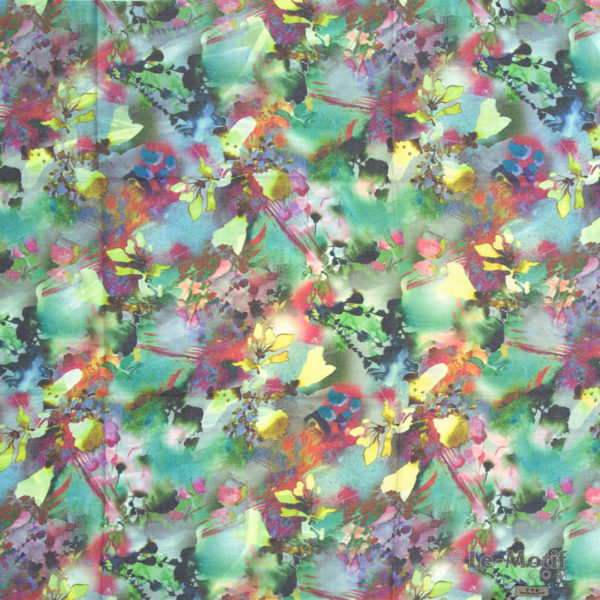 Платок Le Motif из шерсти и хлопка. Яркие узоры, арт. 115GF12