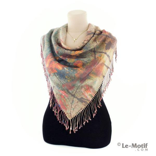 Платок Le Motif из шерсти и хлопка на шее, арт. 15GF372