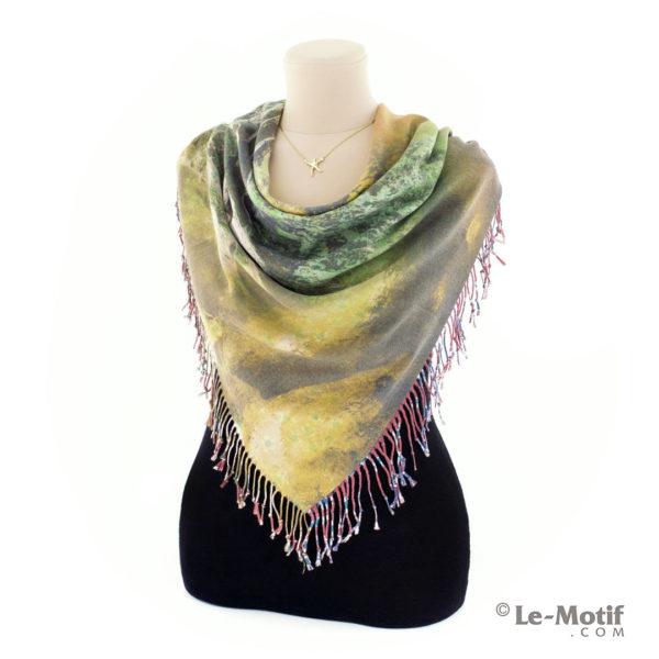 Платок Le Motif из шерсти и хлопка на шее, арт. 15GF402