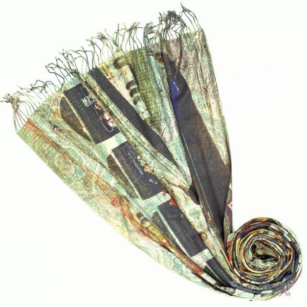Палантин Le Motif из шерсти и хлопка. Фото для каталога 1, 15GS231