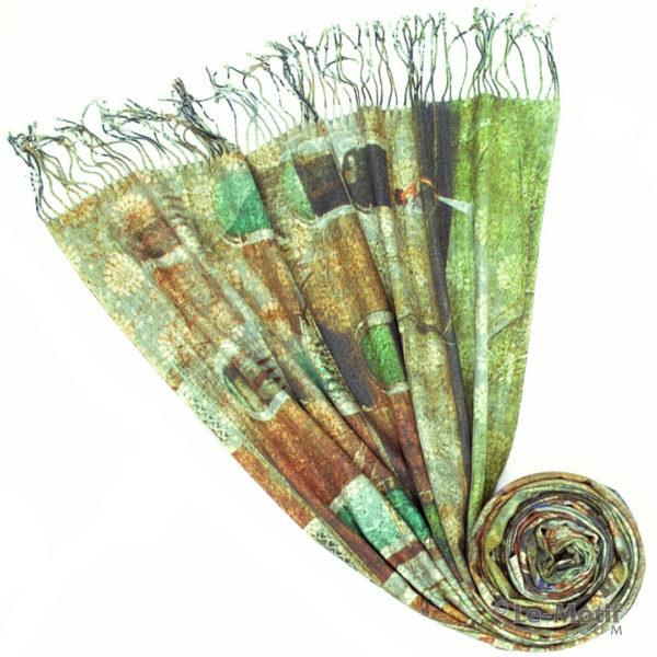 Палантин Le Motif из шерсти и хлопка. Фото для каталога 1, 15GS306