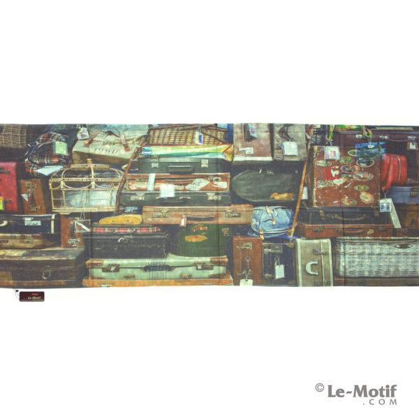 Палантин Le Motif из шерсти и хлопка. Картина - путешествие.