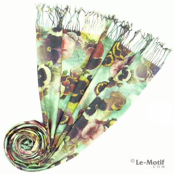 Палантин Le Motif из шерсти и хлопка. Фото для каталога 2, GS15-649