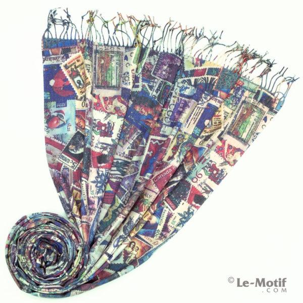 Палантин Le Motif из шерсти и хлопка. Фото для каталога 2, GS15-674