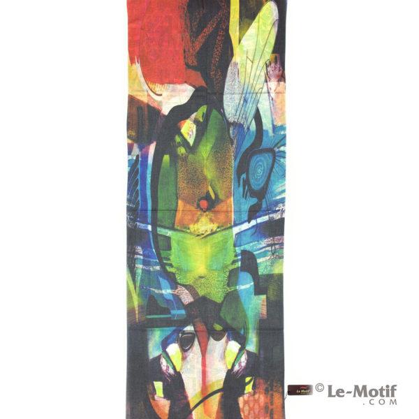 Палантин Le Motif из шерсти и хлопка. Картина коктейль красок