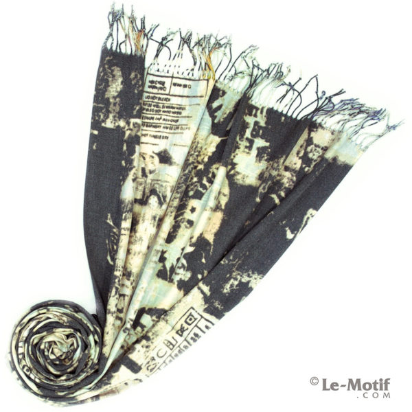 Палантин Le Motif из шерсти и хлопка. Фото для каталога 2, GS16-166