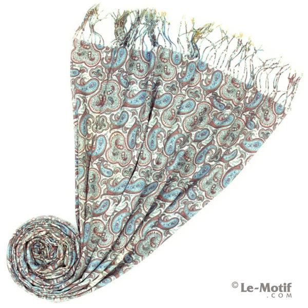 Палантин Le Motif из шерсти и хлопка. Фото для каталога 2, GS16-242