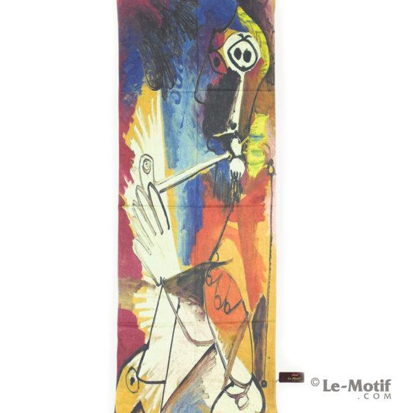 Палантин Le Motif из шерсти и хлопка. Современная абстракция.