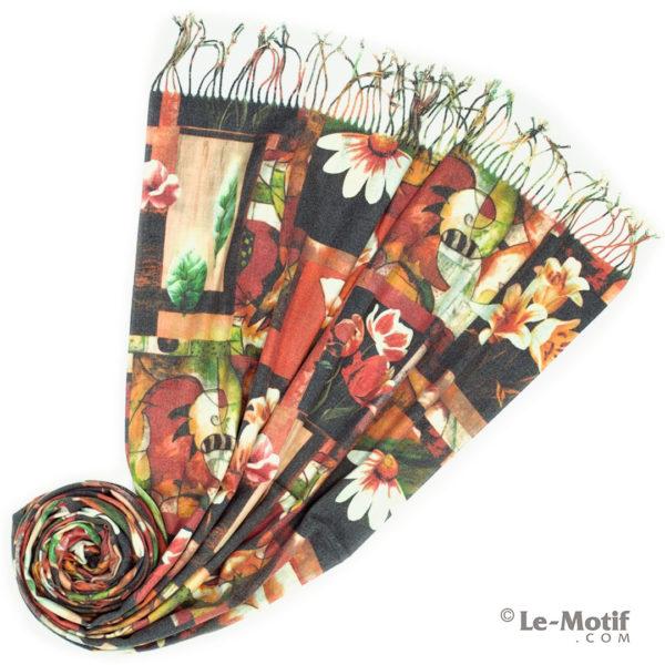 Палантин Le Motif из шерсти и хлопка. Фото для каталога 2, GS16-245