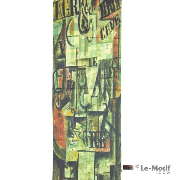 Палантин Le Motif из шерсти и хлопка. Современная абстракция