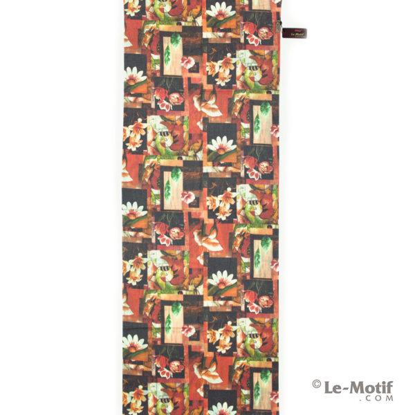Палантин Le Motif из шерсти и хлопка. Абстрактное изображение цветов