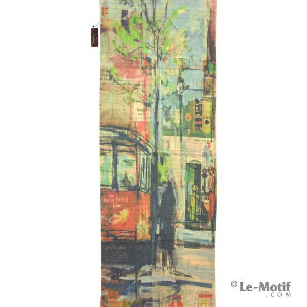 Палантин Le Motif из шерсти и хлопка. Картина Сан - Франциско.