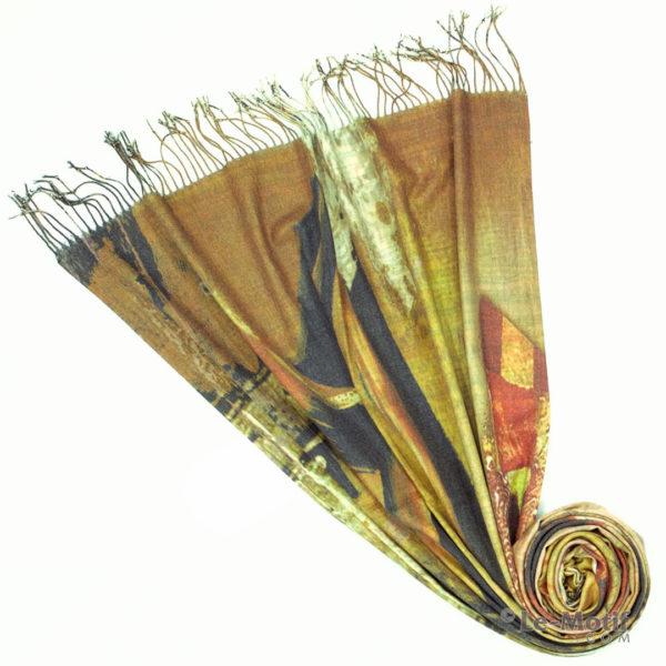 Палантин Le Motif из шерсти и хлопка. Фото для каталога 1, GS16-335