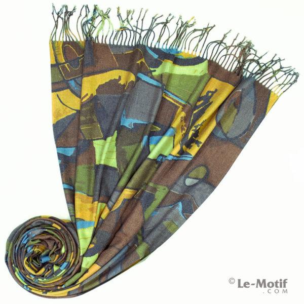 Палантин Le Motif из шерсти и хлопка. Фото для каталога 2, арт. GS16-383