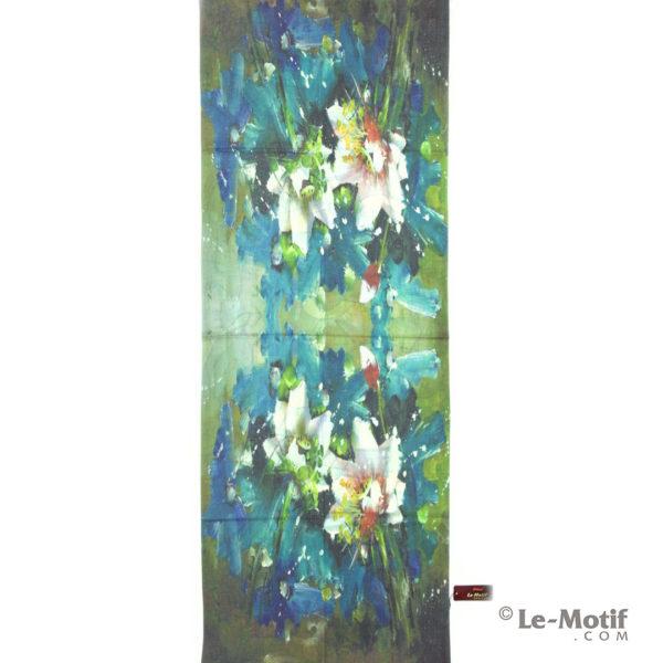 Палантин Le Motif из шерсти и хлопка. Картина-цветы, GS16-383