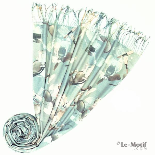 Палантин Le Motif из шерсти и хлопка. Фото для каталога 2, GS16-4
