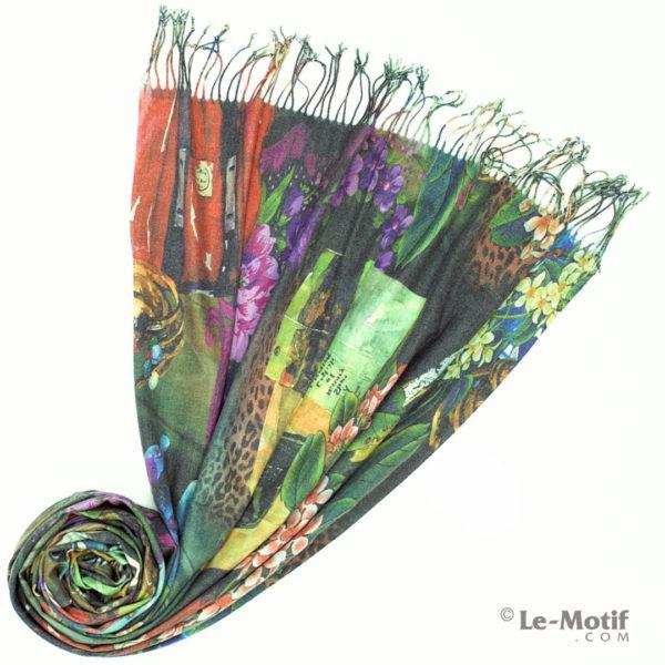 Палантин Le Motif из шерсти и хлопка. Фото для каталога 1, GS16-412