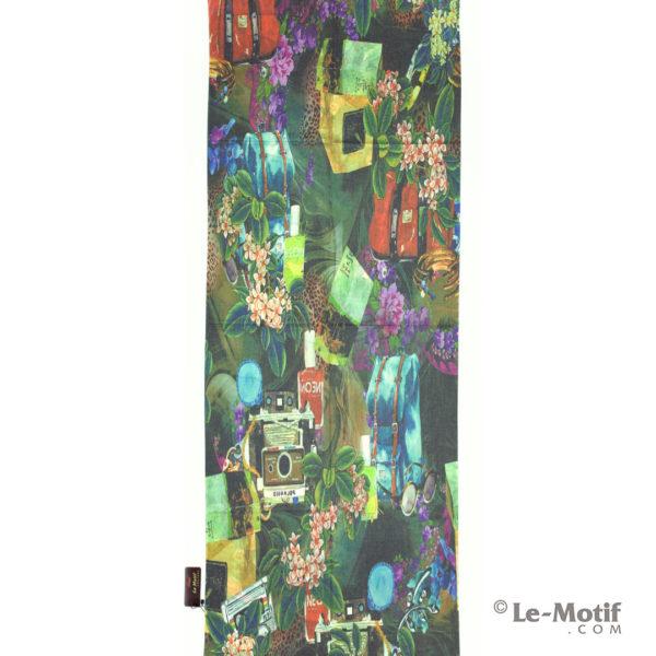 Палантин Le Motif из шерсти и хлопка. Картина-путешествие.