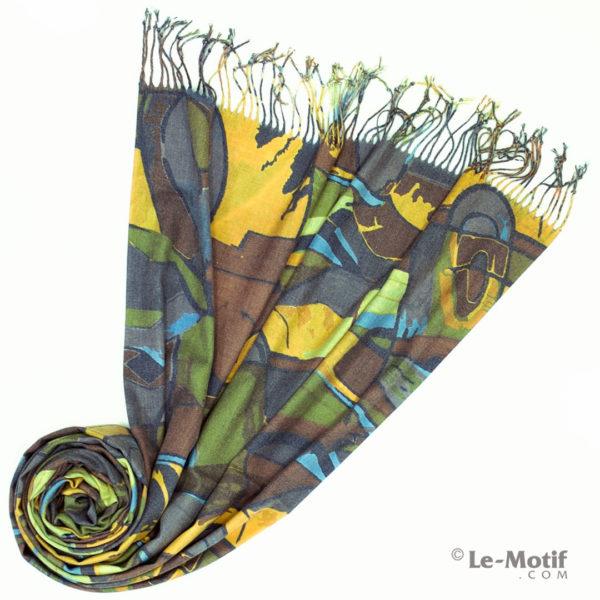 Палантин Le Motif из шерсти и хлопка. Фото для каталога 2, GS16-73