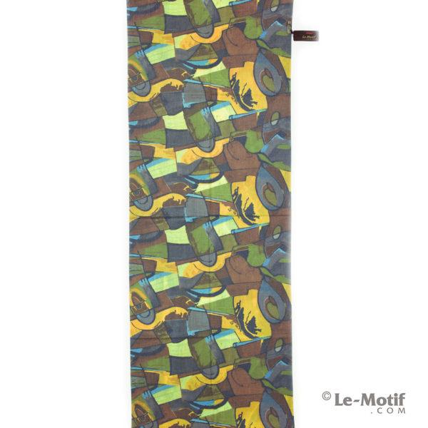 Палантин Le Motif из шерсти и хлопка. Абстрактные фигуры.