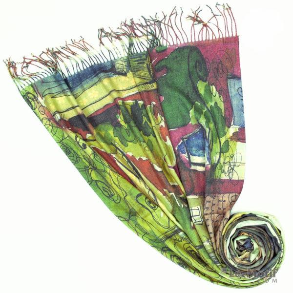 Палантин Le Motif из шерсти и хлопка. Фото для каталога 1, GS298-1