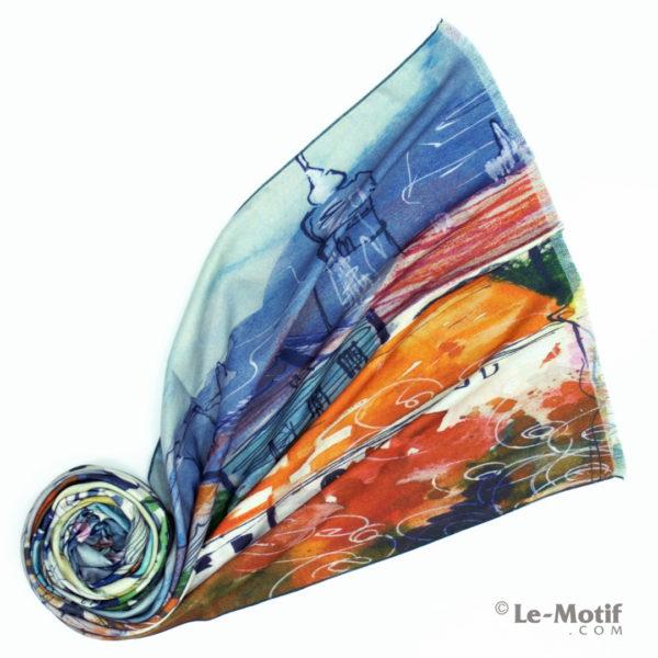 Шарф Le Motif из шерсти и хлопка. Фото для каталога 1, LS251-1