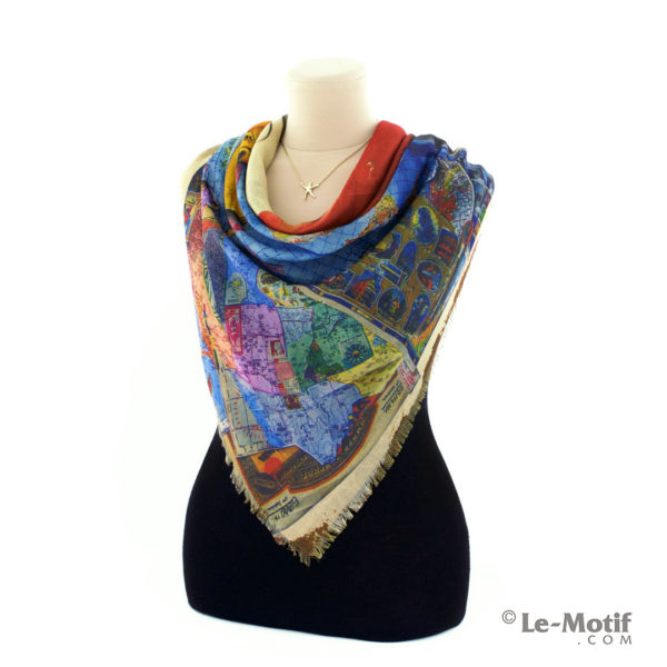 Платок Le Motif из хлопка с вискозой на шее, арт. RSF15-679