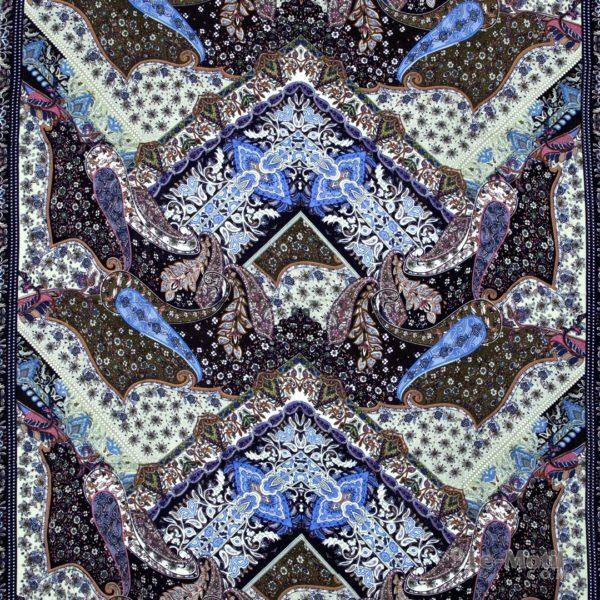 Платок Le Motif из шёлка и хлопка орнамент пейсли и узоры