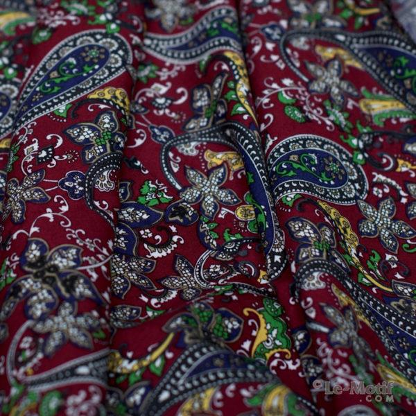 Платок Le Motif из шёлка и хлопка. Фото ткани, арт. S191-1