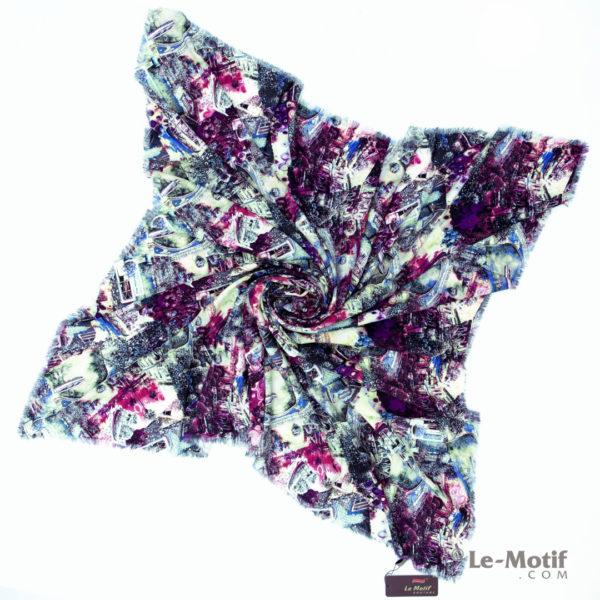 Платок Le Motif из шёлка и хлопка. Фото для каталога. S195-1