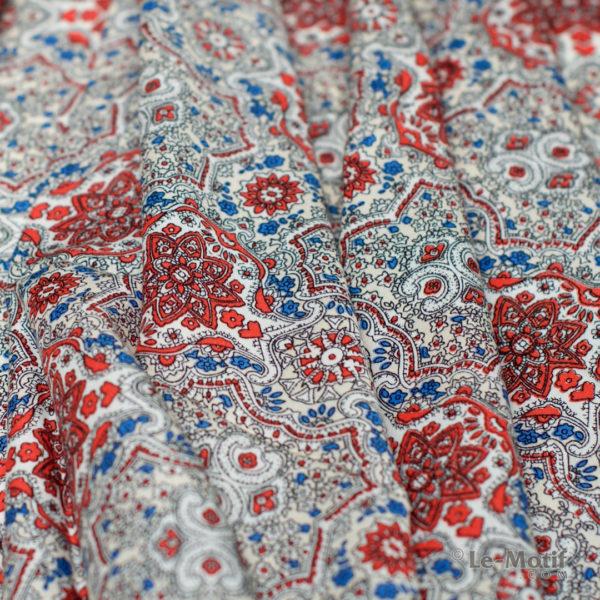 Платок Le Motif из шёлка и хлопка Фото ткани, арт. SM164-2