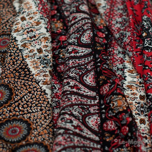 Платок Le Motif из шёлка и хлопка. Фото ткани, арт. SM189-1