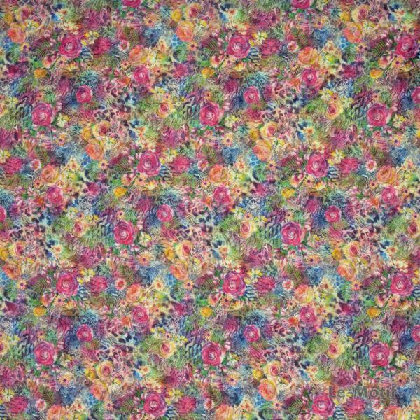 Платок Le Motif из хлопка с вискозой изображение цветов, T69-1