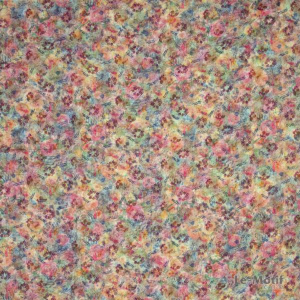 Платок Le Motif из хлопка с вискозой цветочные узоры, T69-1