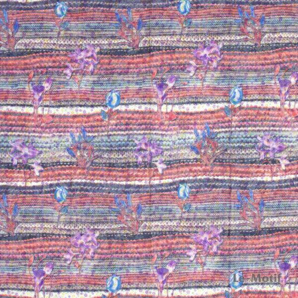 Платок Le Motif из хлопка с вискозой. Весенние цветы, TM73-1