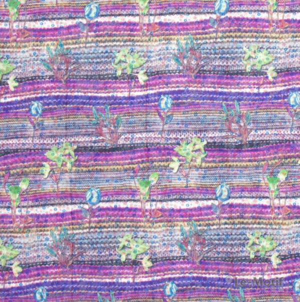 Платок Le Motif из хлопка с вискозой. Весенние цветы, TM73-3