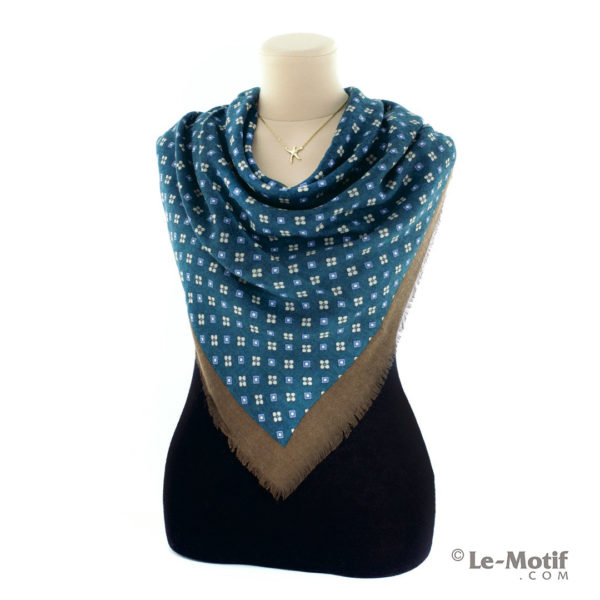 Платок Le Motif Couture из шерсти. Как красиво завязать, Y01-3