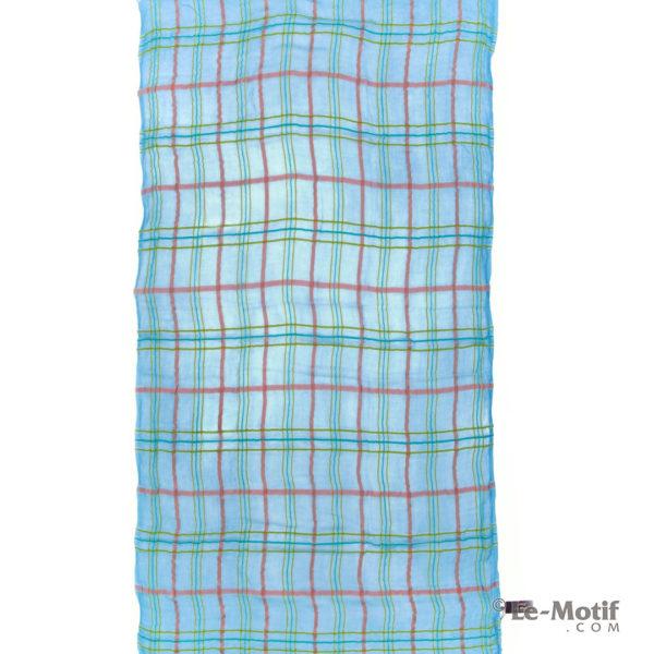 Платок Le Motif из шерсти и модала. Цвет - голубой, арт. ZG01-1