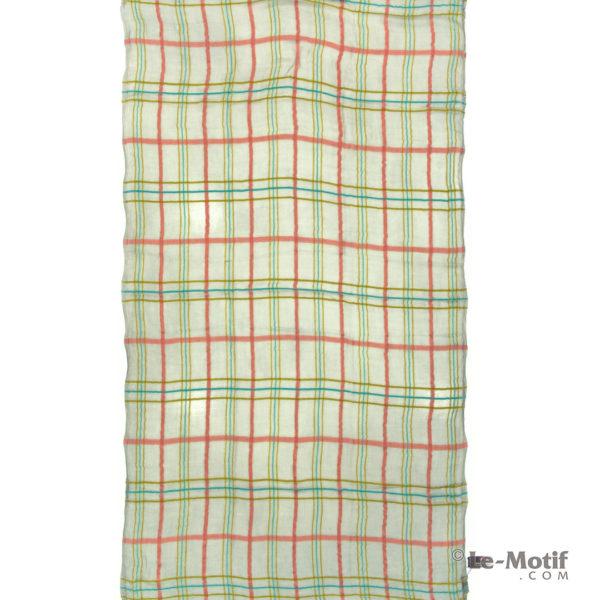 Платок Le Motif из шерсти и модала. Цвет - оливковый, арт. ZG01-10